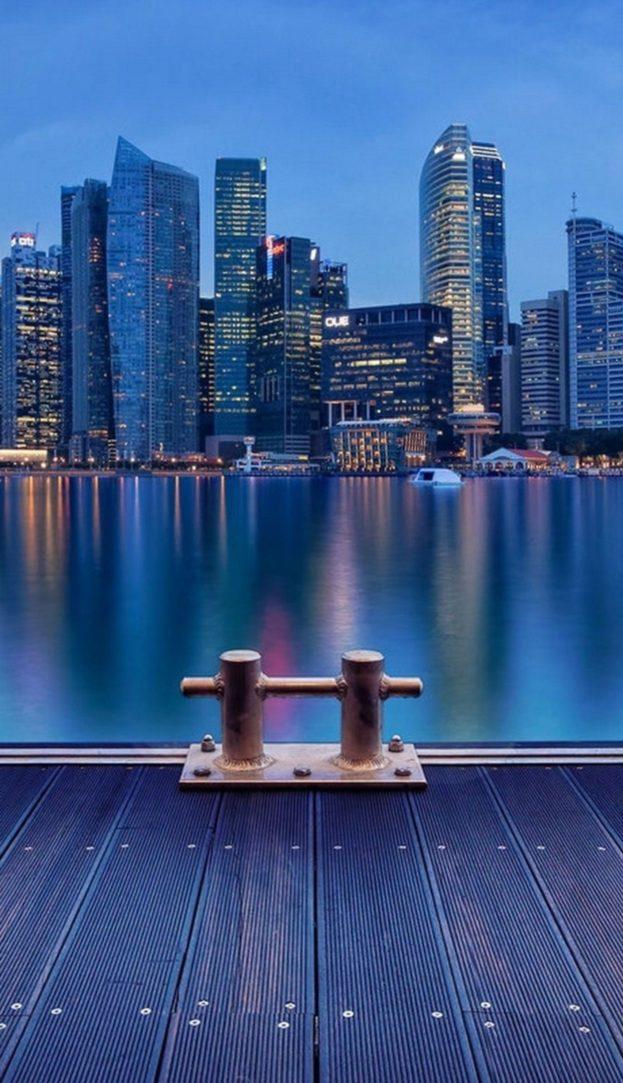 4k Hd Night At Singapore خلفيات ايفون بلس Iphone 6 Plus 7 Plus