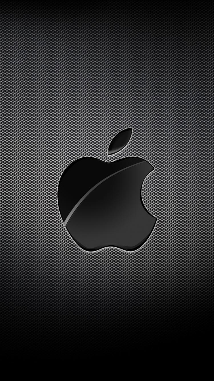 Apple Mac Brand Logo Dark خلفيات ايفون iPhone 6, iPhone 7 ...