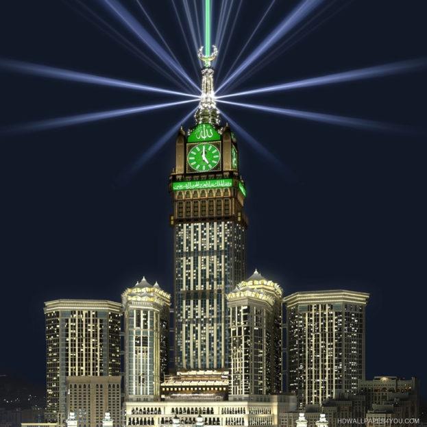 صورة ساعة مكة Islamic Wallpapers - صور خلفيات عالية الدقة HD Wallpapers
