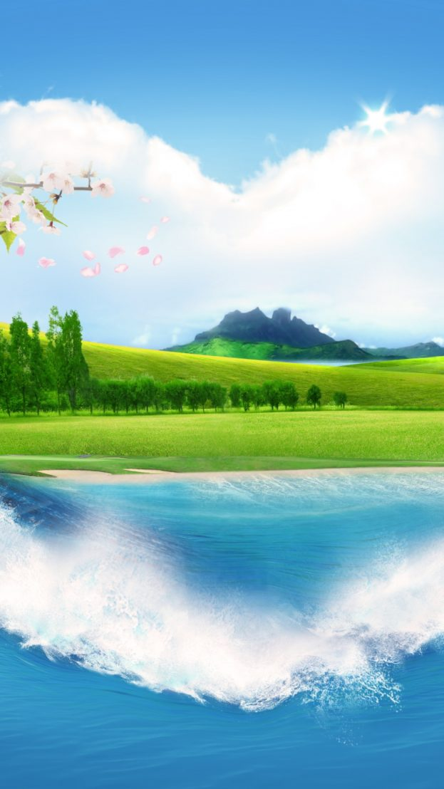 Nature Pattern Clouds Summer Heart خلفيات ايفون iPhone 6, iPhone 7, 750x1334 - صور خلفيات عالية الدقة HD Wallpapers