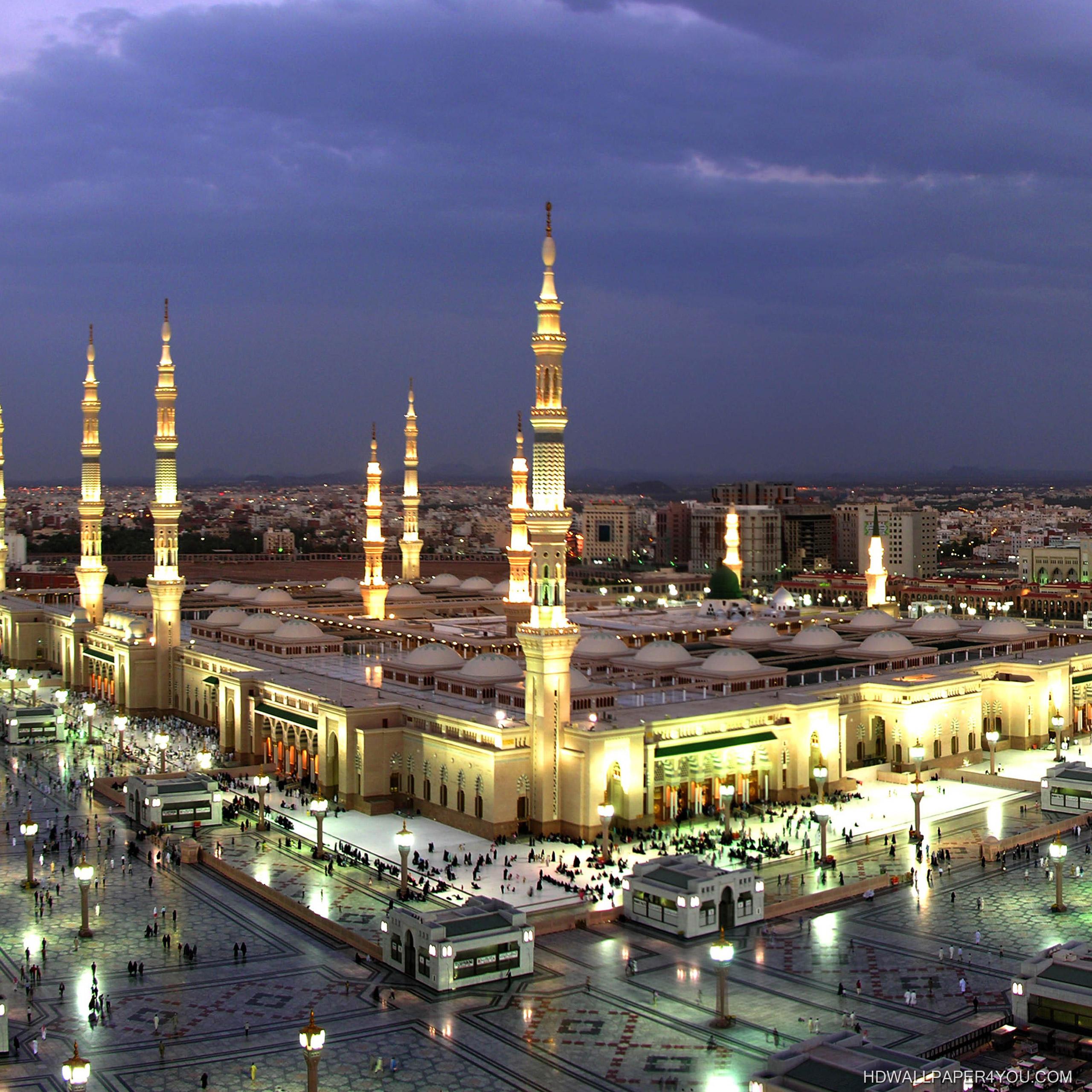صورة خلفية شاشة المسجد النبوي المدينة المنورة Islamic Wallpapers صور خلفيات عالية الدقة Hd Wallpapers