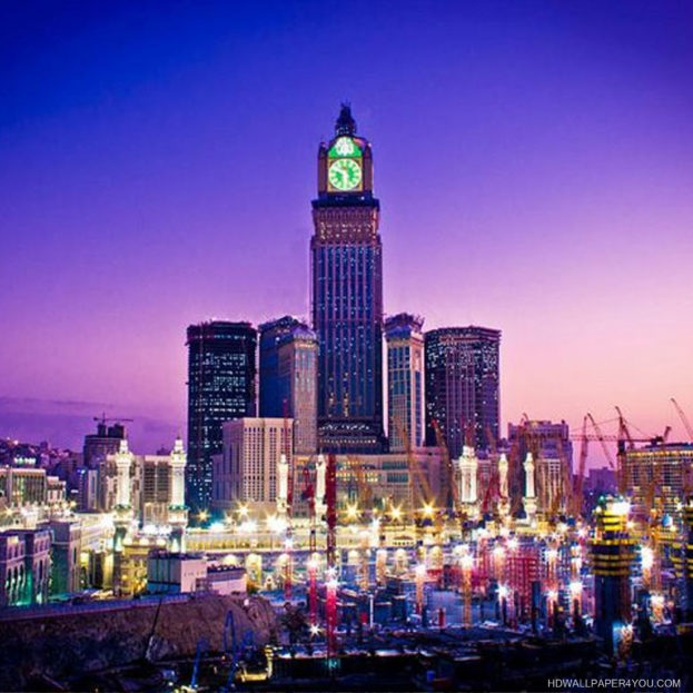 خلفيات دينية ساعة مكة المكرمة Islamic Wallpapers - صور خلفيات عالية الدقة HD Wallpapers